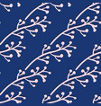 winter branches seamless pattern on blue vector image vector image