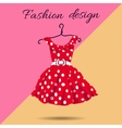 women dress polka dot with vector image vector image