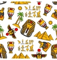 Seamless pattern of ancient egyptian ornaments vector image