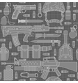 seamless military pattern 01 vector image