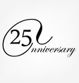 Anniversary celebration emblem vector image vector image