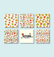 autumn textures design for card poster vector image vector image