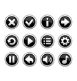 black and white buttons for game vector image vector image
