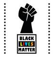 black lives matter square message emblem vector image