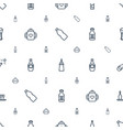 bottle icons pattern seamless white background vector image vector image