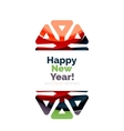 Christmas and New Year geometric paper design vector image vector image