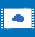 cloud icon flat design style vector image vector image