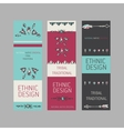 Collection of tribal boho folk vinatge tickets vector image vector image