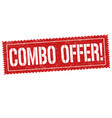 combo offer sign or stamp vector image vector image
