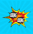 comic speech bubble bang vector image