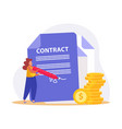 contract flat icon vector image