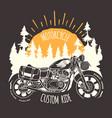 custom bike travel hand drawn t-shirt print vector image