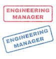 engineering manager textile stamps vector image vector image