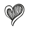 Fantasy heart in tattoo style vector image vector image