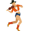 fiddler girl vector image vector image