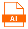 file name extension ai type vector image vector image
