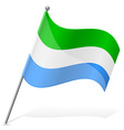flag of Sierra Leone vector image