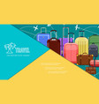 flat travel bags colorful composition vector image vector image