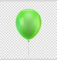 green realistic balloon vector image vector image