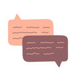 hand draw chat dialog speech clouds cute abstract vector image vector image