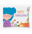 happy thanksgiving family cute little girl with vector image vector image