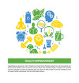 health improvement round concept banner with vector image vector image