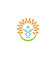healthcare logo template vector image vector image