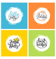 holly jolly happy holidays jingle bells wishes vector image vector image