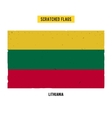 Lithuanian grunge flag with little scratches on vector image vector image