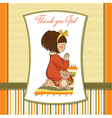 little girl praying vector image