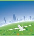 london skyline flight destination vector image
