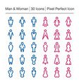 man and woman line icon vector image vector image