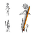 maya civilization - maya people tools and vector image