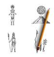 maya civilization - people tools vector image