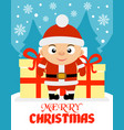 merry christmas with boy vector image vector image