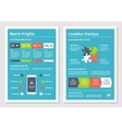 modern business infographic brochure template 4 vector image vector image