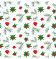 new year and christmas hand drawn plants vector image vector image