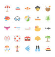 ocean and sea life icons collection vector image