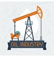 Oil pump jack background vector image vector image