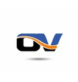 OV company linked letter logo vector image vector image