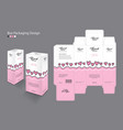 packaging design 3d box product for beauty spa vector image vector image