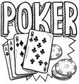Poker vector image vector image