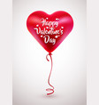red balloon in form of heart vector image vector image