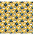 Seamless Blue Yellow Triangle Star Tiling vector image