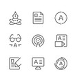 set line icons copywriting vector image vector image