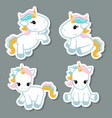 set of unicorn stickers set of unicorn stickers vector image vector image