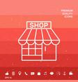 shop symbol icon vector image