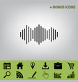 sound waves icon black icon at gray vector image vector image