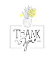 thank you handwritten inscription elegant card vector image vector image