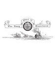 the united states seal of the navy deparment vector image vector image